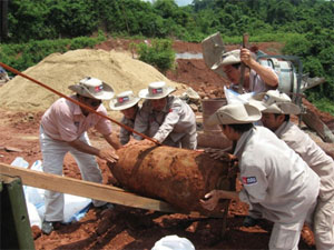 Dự án rà phá bom mìn Talisman tài trợ tại tỉnh Quảng Bình